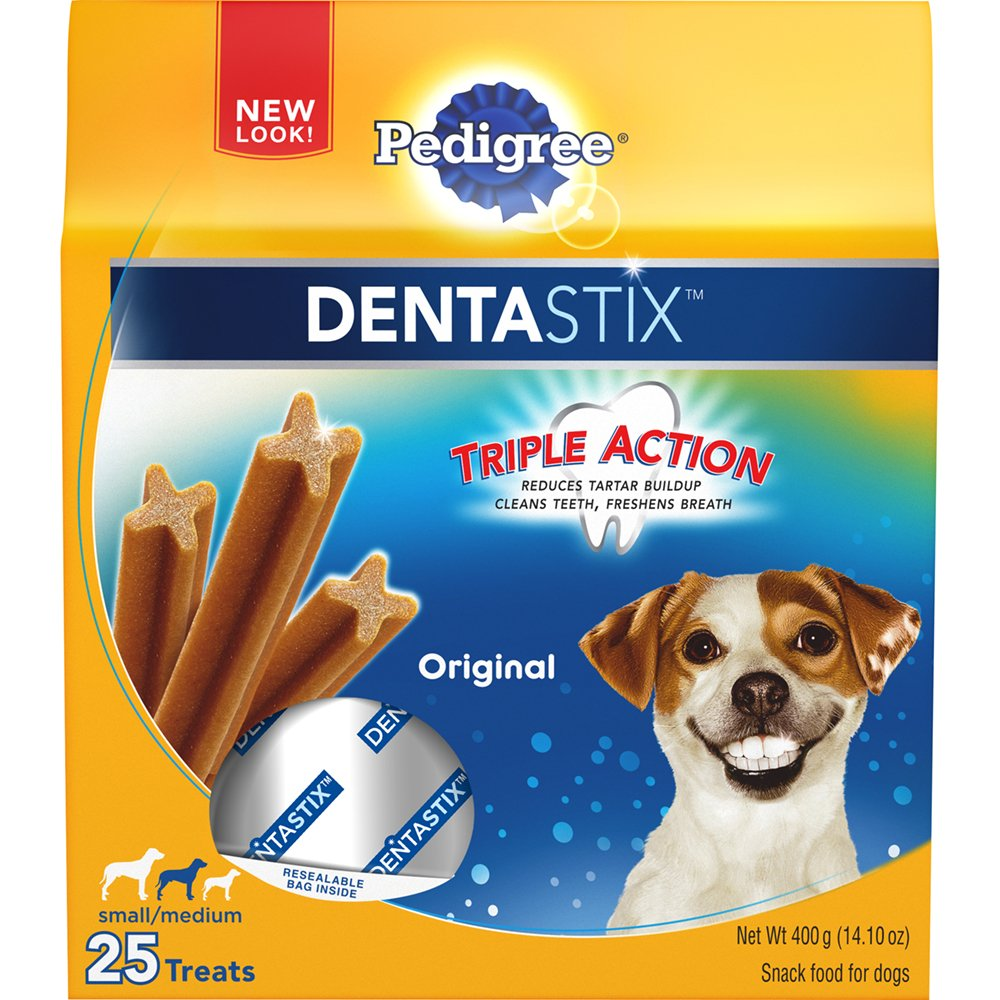 PEDIGREE Dentastix Small/MEDIUM Dog Treats Original 25 Treats