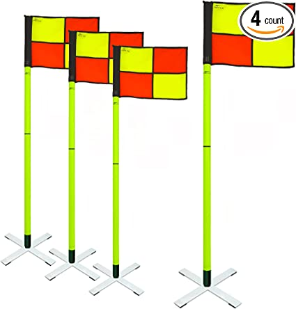 Agora Pro Line Soccer Indoor Turf Corner Flags Set Of 4 Sports Outdoors