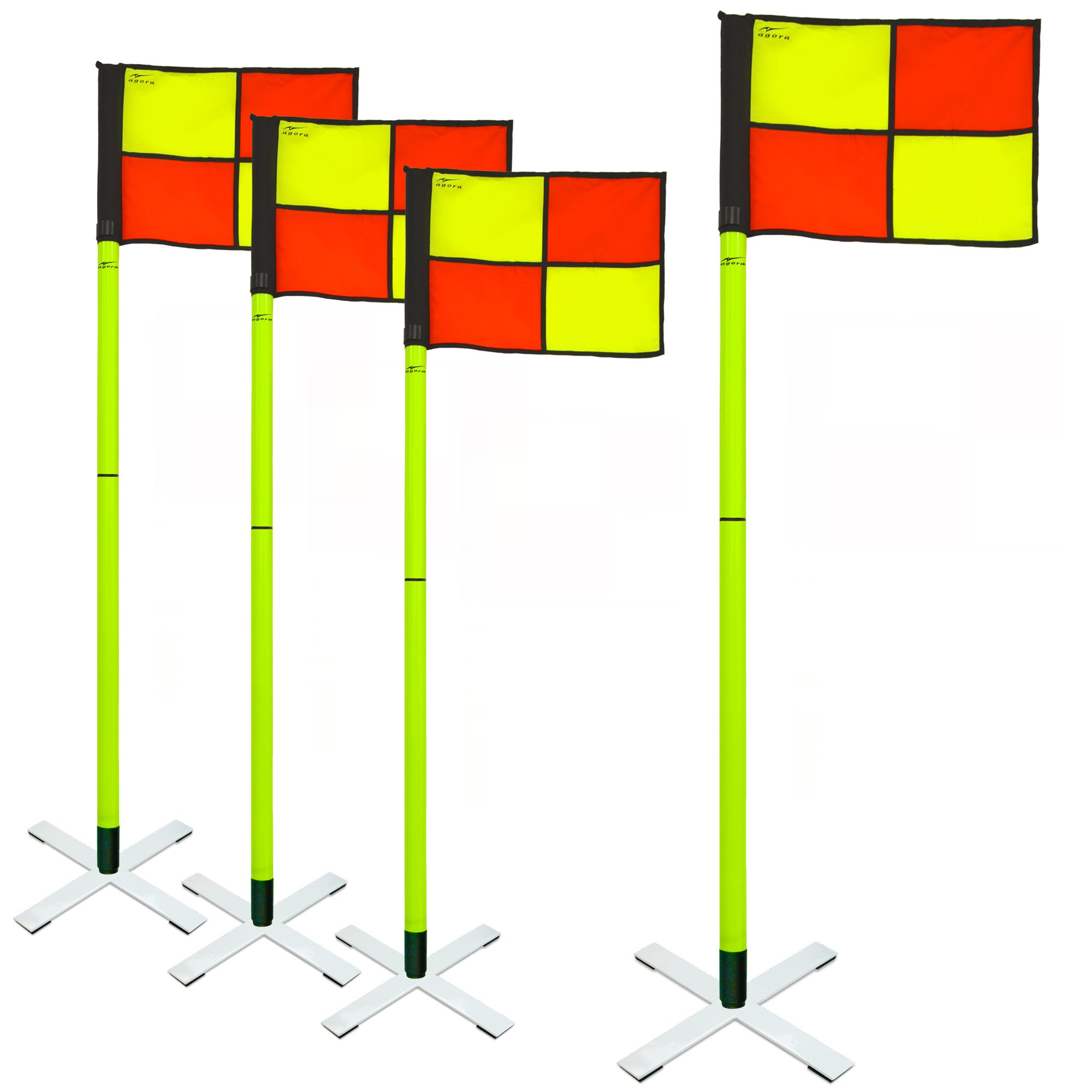 AGORA Pro Line Soccer Indoor/Turf Corner Flags - Set of 4 by AGORA