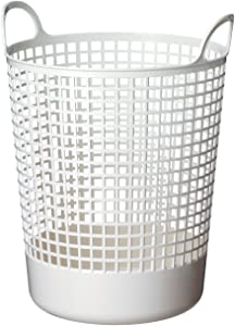 Like-It Scandinavia Style Big Round Basket, W16.14 x D14.96 x H20.47, White