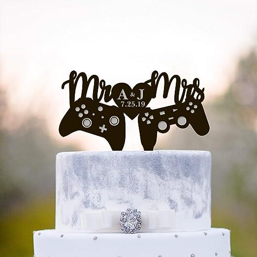 Decoración para tarta de boda, de gamers, para juegos de ...