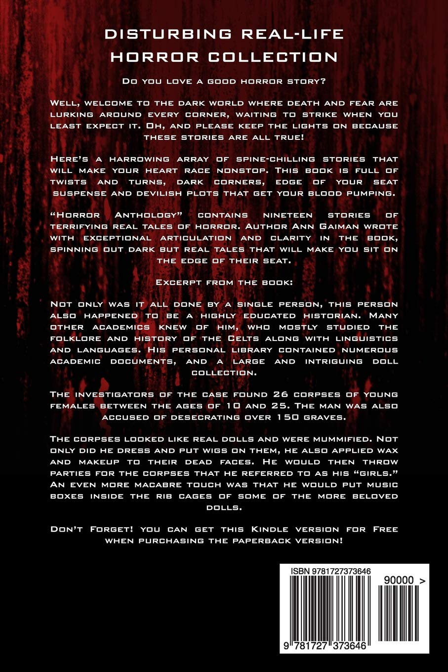 Horror Anthology: a Horror Collection of Real life: Murder mystery ...