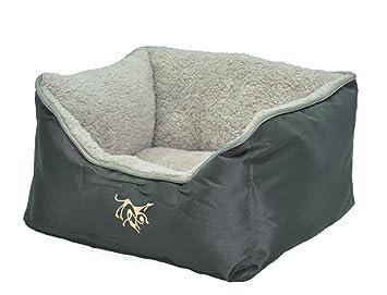 VADIGRAN - Cama para Perros, Grande, Oxford, 75 x 60 x 23 cm, Color marrón café: Amazon.es: Productos para mascotas