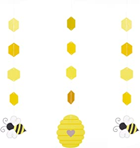 "Creative Converting Bumblebee Baby Hanging Decorations, 32"", Multi-color"