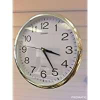 "Quartz ""silent tick"" Wall Clock- ideal for use in the office, home or kitchen. Quality quartz movement means the clock is very accurate. The silent sweep means none of that annoying ticking!"