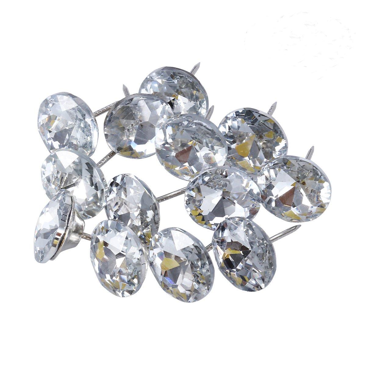 ROSENICE 25mm Sew Buttons Diamond Crystal Upholstery Nails Tacks Sofa Wall Decor 20Pcs 4336922431