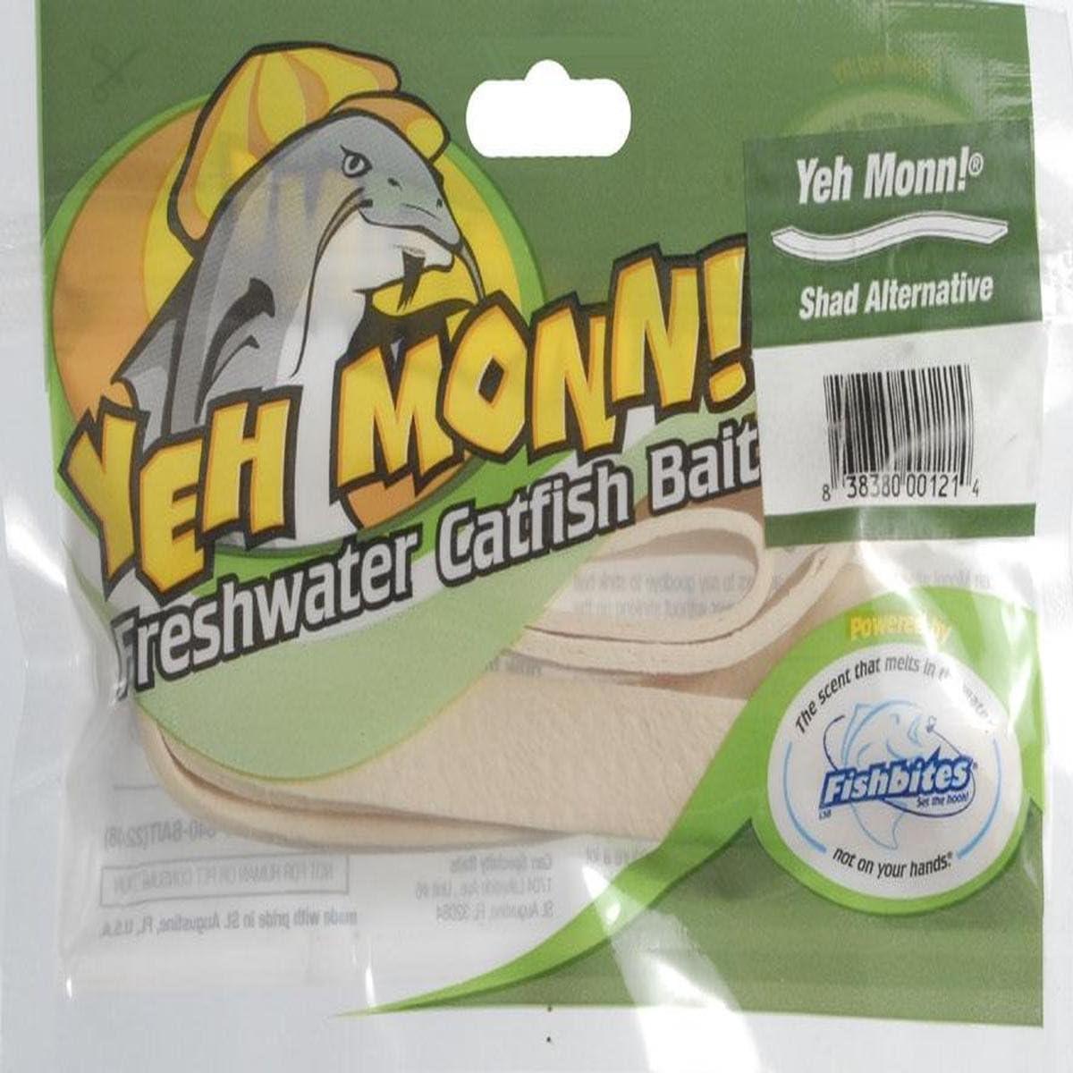 Fishbites 0121 Yeh Monn Freshwater Catfish Bait, Shad Worm and Flesh