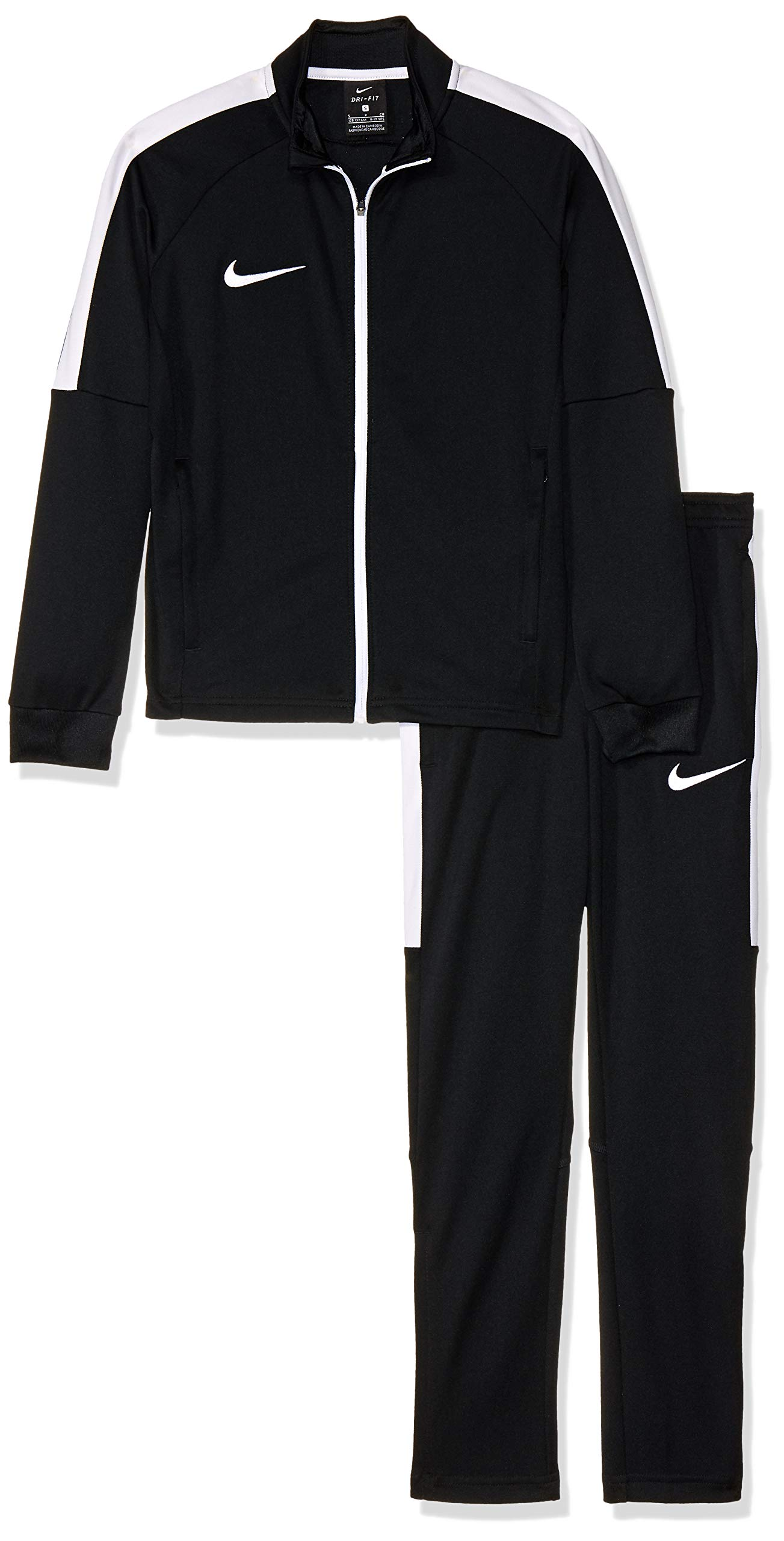 NIKE Dry Academy Older Kids' Football Track Suit (L, Black/White) by Nike (Image #1)
