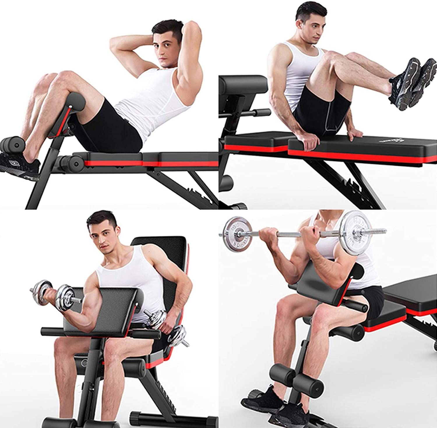 Adjustable Romes Chair Sit Up Incline Abs Benchs Flat Fly Weight Press Fitness Heavy Duty Steel Construction Black