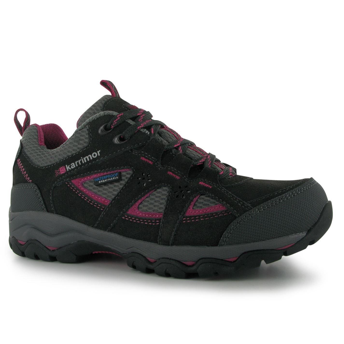 Karrimor Mens Mount Low Sports Outdoors Sepatu Ladies Walking Shoe