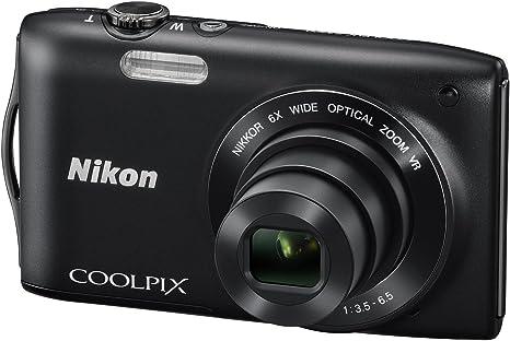 Nikon Coolpix S3300 Digitalkamera 2 7 Zoll Schwarz Kamera