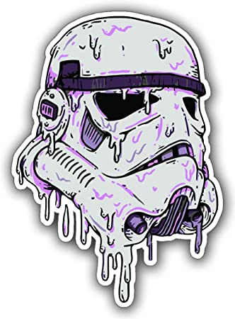 Star wars melting stormtrooper sticker sticker for skateboards snowboards scooters bmx mountain