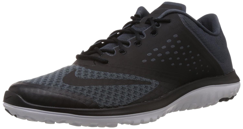 Nike FS LITE RUN 2 Zapatillas para Correr Running Negro Rojo para Hombre 44.5 EU|Dark Magnet Grey/Black White