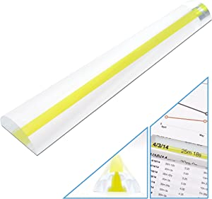 MagniPros 2X Magnifying Bar Magnifier Ruler with Guide Line(so You Won't Miss a line) Ideal for Reading Small Prints and Document