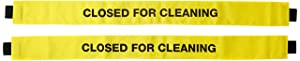 Haylins (2 Pack) Restroom Closed for Cleaning Sign with Magnetic Ends Nylon Banner Door Barrier for metal door frames