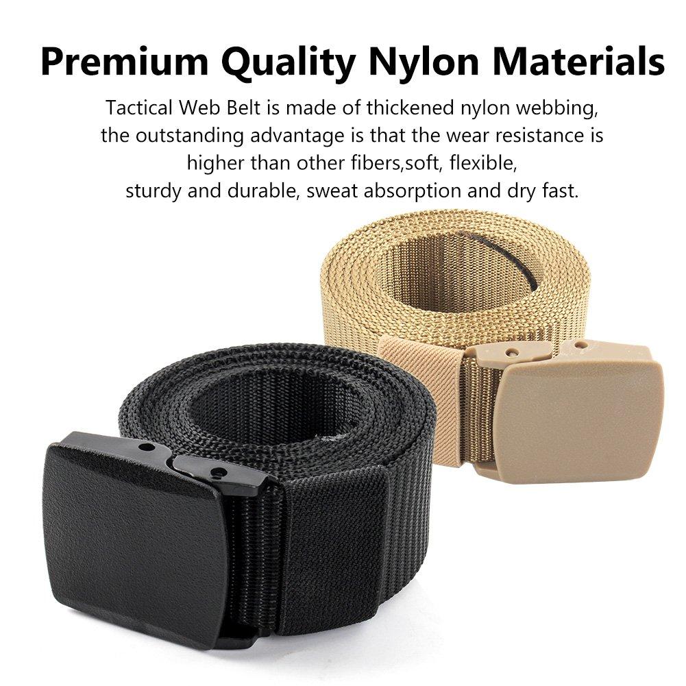 Ceinture tactique en nylon de ceinture de ceinture de Web de ceinture de 2 hommes des hommes 1.5ceinture ext/érieure de sangle