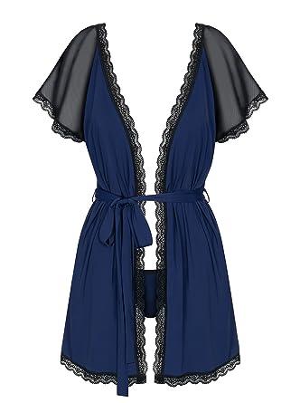 4fa3c19d49 Amocarat SA Obsessive Smooth Lace Robe String 825-PEI-6  Amazon.co ...