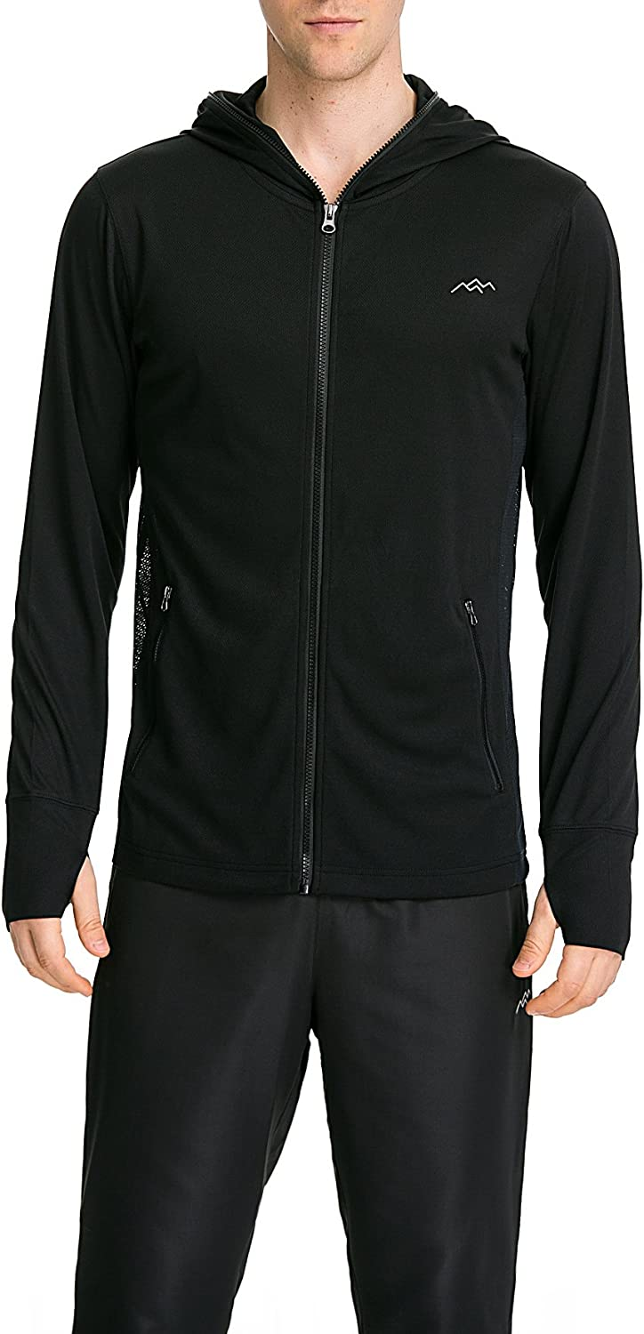 TRAILSIDE SUPPLY CO. Men's Zip Up Hoodie Jacket,Hoodie with Thumb Holes