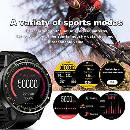 favourall F1 GPS Smart Sport Watch con soporte para doble ...