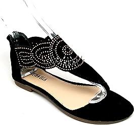e4332f05a211 Steven Ella XD-01 Women s Black Lasercut Sandal with Back Zipper