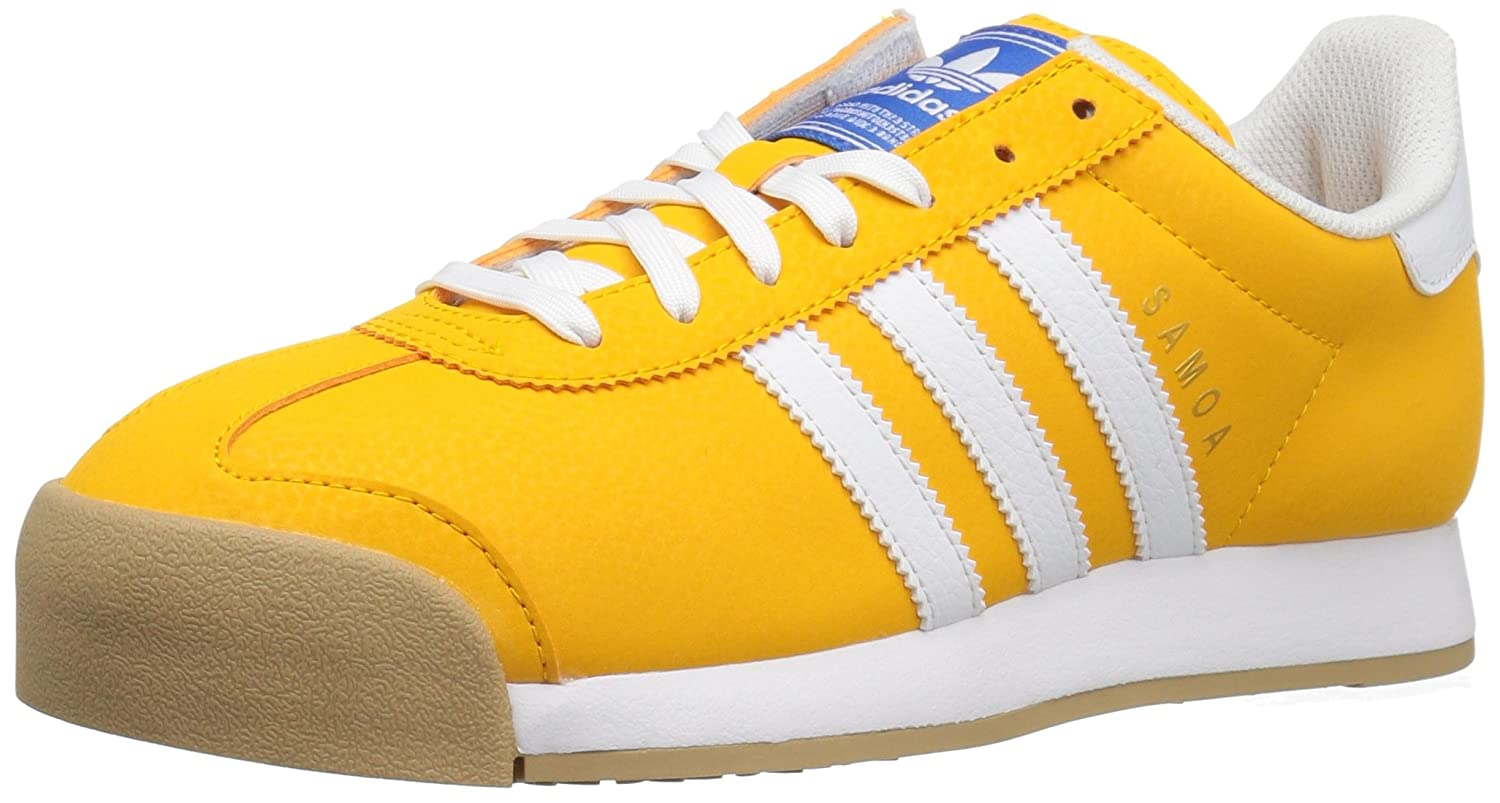 ShoeCollegiate Whitemetallicgold10 Uk Originals Adidas Sneaker Samoa Men's Retro Running 35RAL4jcq