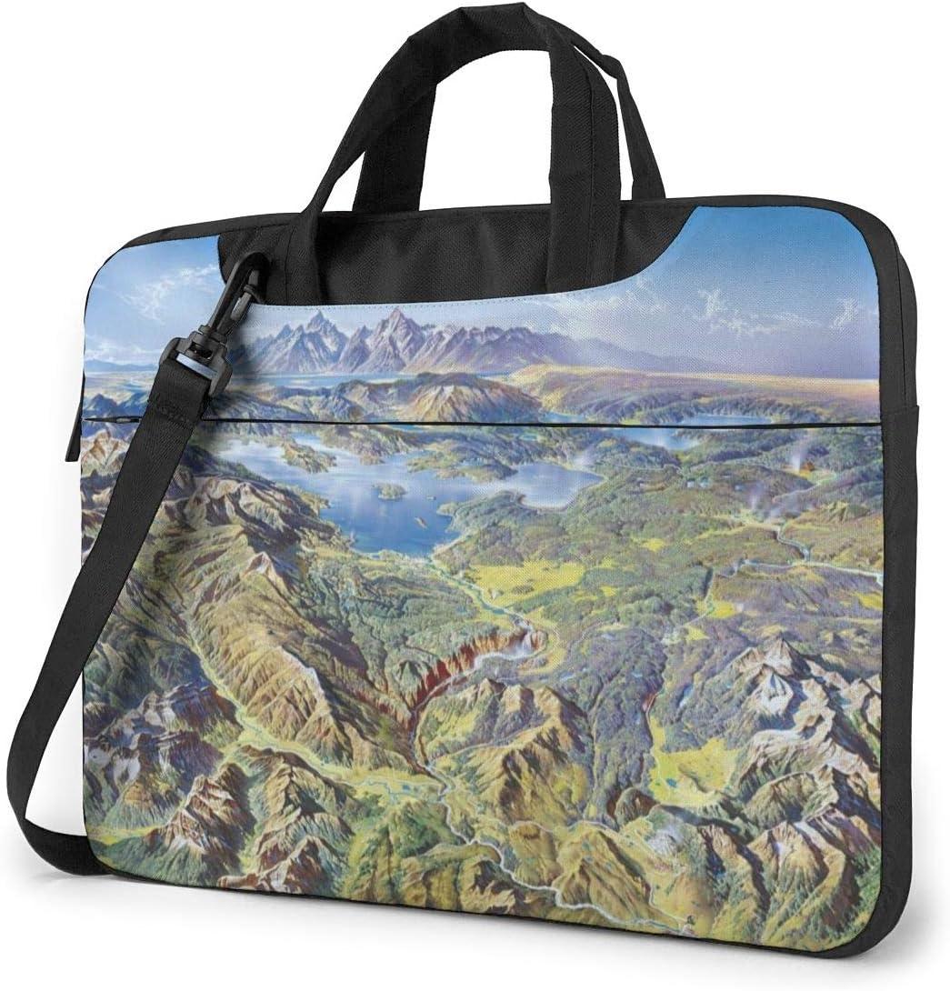 Laptop Shoulder Bag 13 Inch Mountain Scenery Briefcase Protective Bag