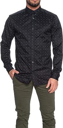 Only & Sons - Camisa de Manga Larga para Hombre, diseño de fantasía, Color Negro Negro S: Amazon.es: Ropa y accesorios