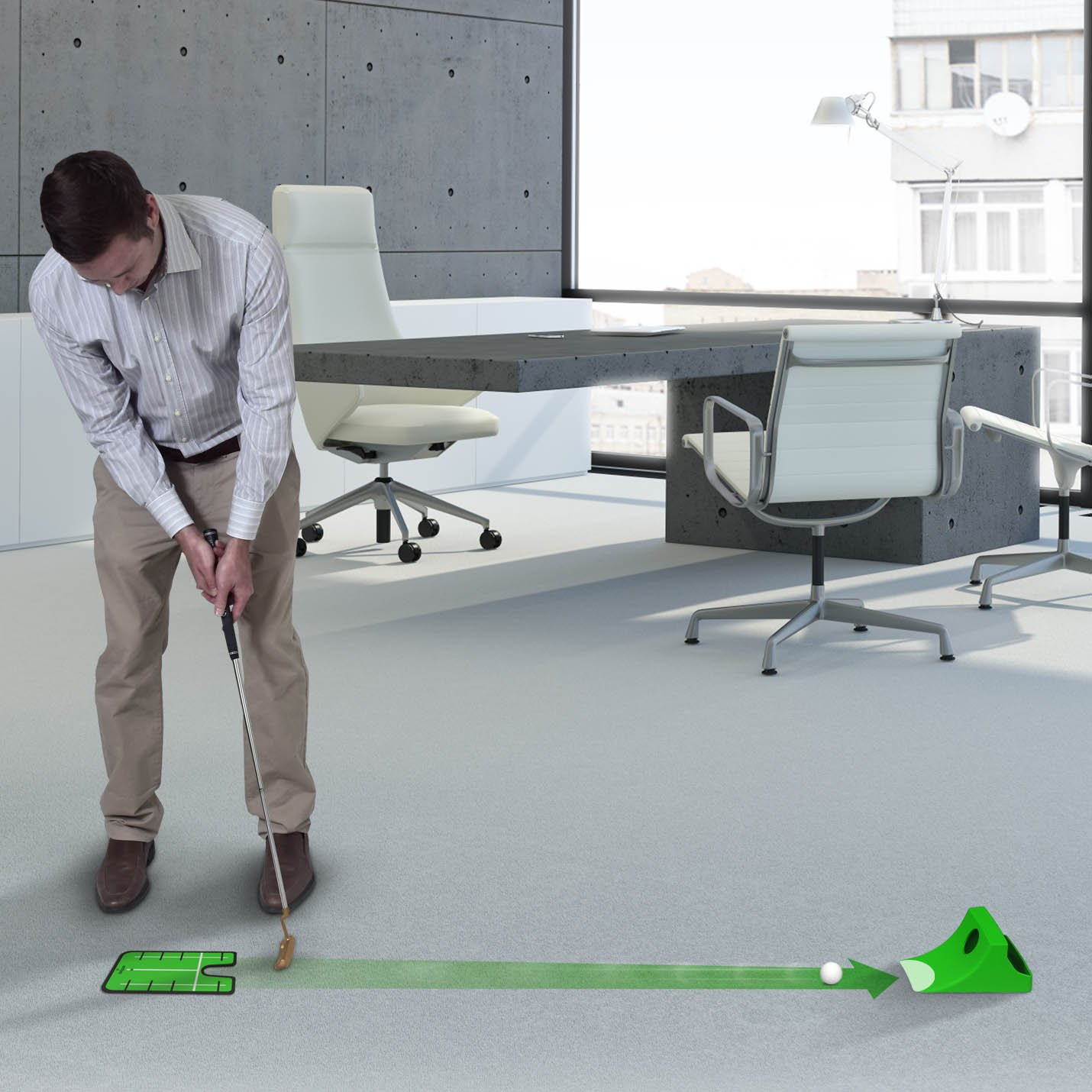 GoSports Puttster Golf Putting Training Aid - Alignment Guide with Cup Ramp Return System for Indoor or Outdoor Practice by GoSports (Image #3)