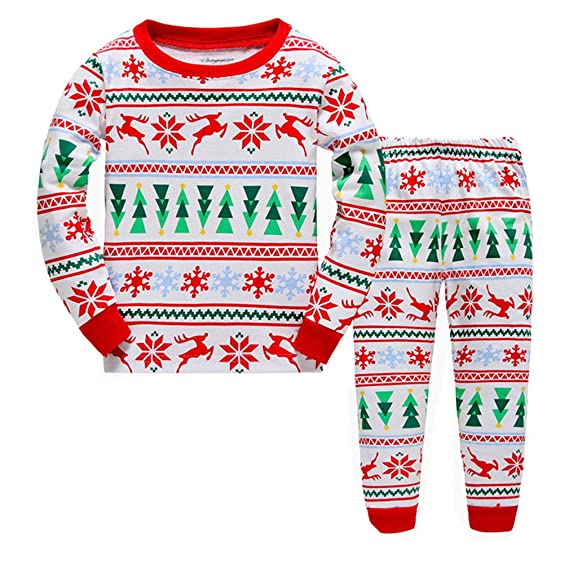 "Emma&Ryan ""Snowflake"" Girls Christmas Pajamas 100% Cotton Toddler Kids Sleepwear ..."
