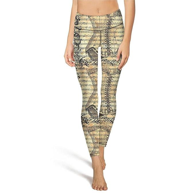 Amazon.com: Ouxioaz High Waist Yoga Pants Old Sheet Music ...