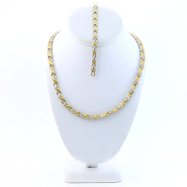 best Womens 2 Tone Xoxo Hugs & Kisses Necklace and Bracelet Set 20 ...