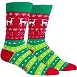 Sock It To Me Men's Novelty Christmas Crew Socks - Tacky Holiday Sweater