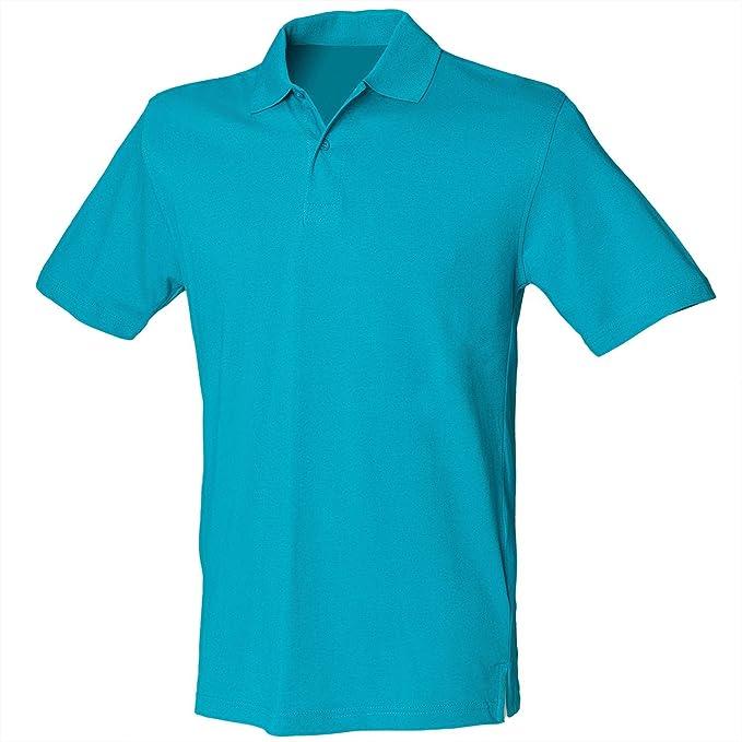 Henbury Stretch Pique Polo - Sapphire Blue - XL: Amazon.es: Ropa y ...