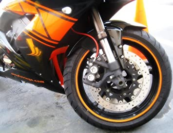 High Intensity Grade Reflective Safety Rim Tapes Decals Fit for 17 inch 18 inch Motorcycle Car Wheels Orange
