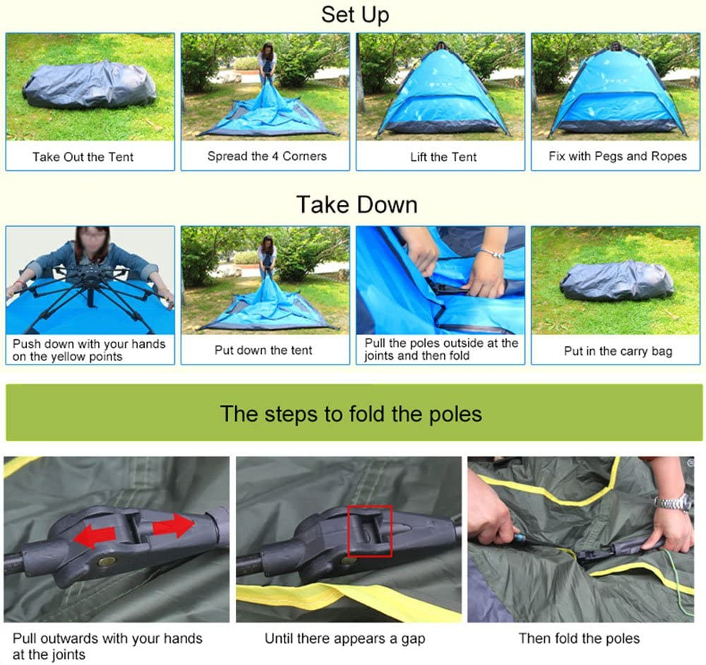 Night Cat Tente de Camping /étanche 2 3 4 Personne Instantan/ée Pop Up Automatique D/ôme Vacances Facile Installation Tente pour Randonn/ée en Plein Air Double Couche