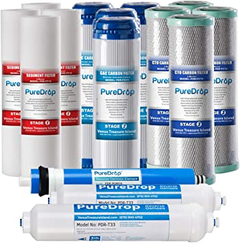 PureDrop PDR-F15-50 Replacement Water Filter Pack White