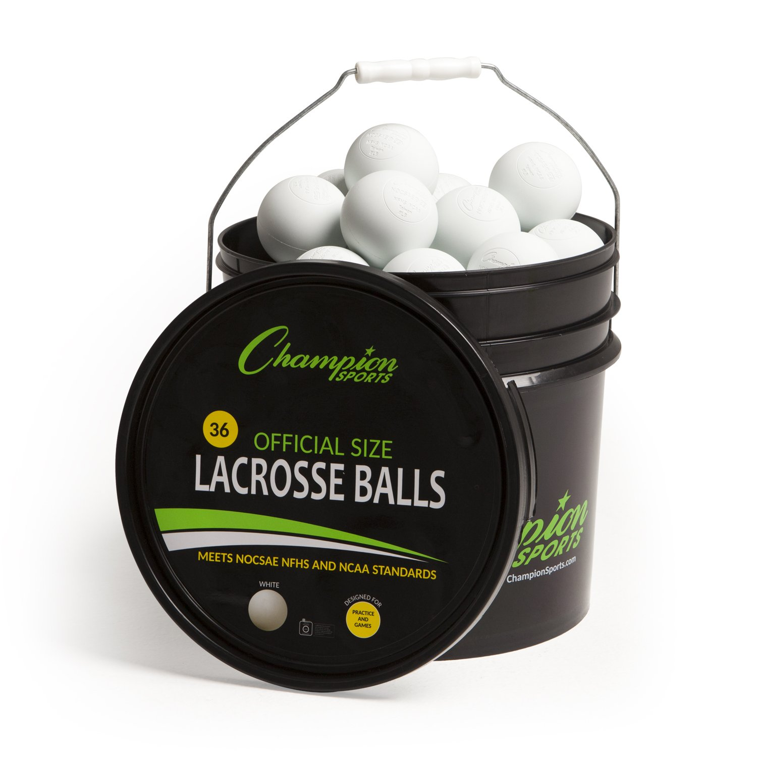 Champion Sports Lacrosse Balls in a Bucket
