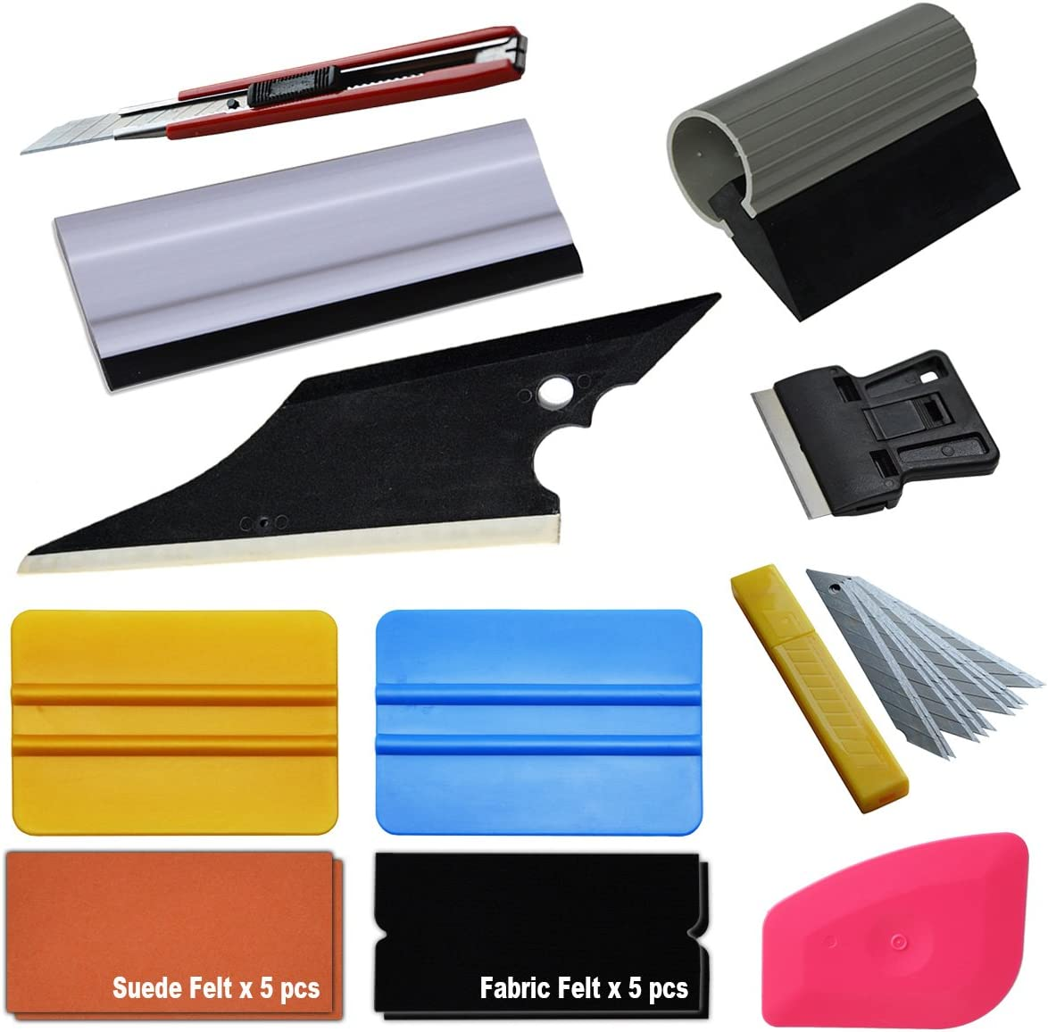 Zanch Mini Pink Squeegee Hard Card Window Tint Tool Vinyl Wrap Corner Squeegee Car Graphic Decals Scraper