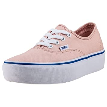 Vans Damen Authentic Platform 2.0 Sneaker, Weiß (Canvas), 40 EU
