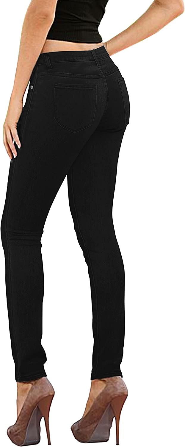 Hybrid & Company Womens Super Stretch Comfy Denim Skinny Jeans