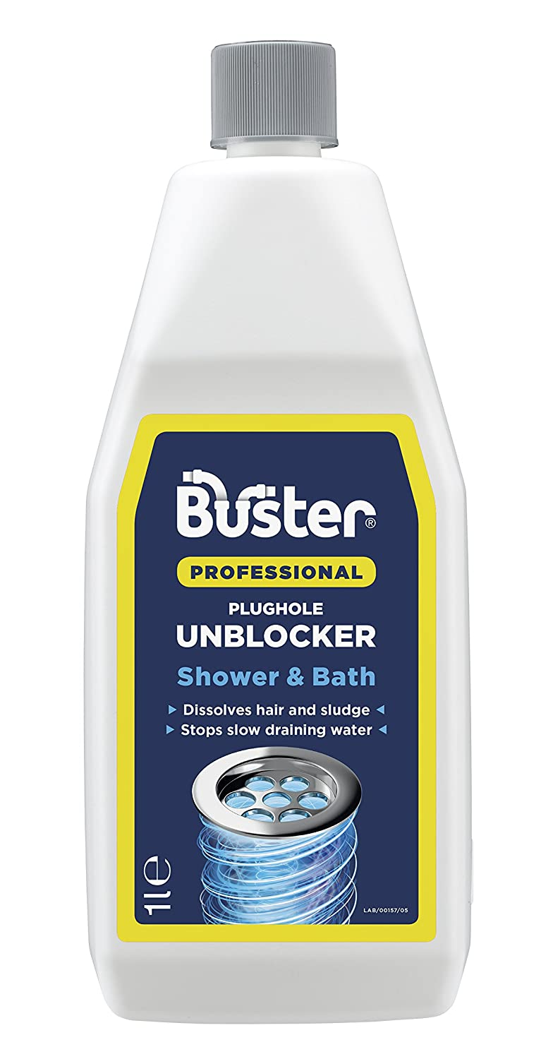 Buster Shower and Bath Plughole Unblocker, 1 Litre Challs International 6157/A