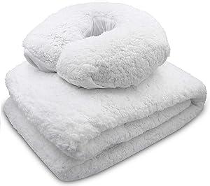 JJ CARE [PREMIUM] Massage Table Fleece Pad Set, 30