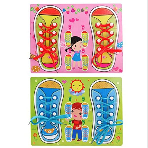 Clublane Tm Learn To Tie Your Shoes Kids Puzzles Toy Board Amazon