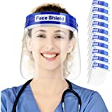 10 Pack Safety Face Shield, All-Round Protection, Anti-Fog Lens, Lightweight Transparent Shield with Adjustable Elastic Band