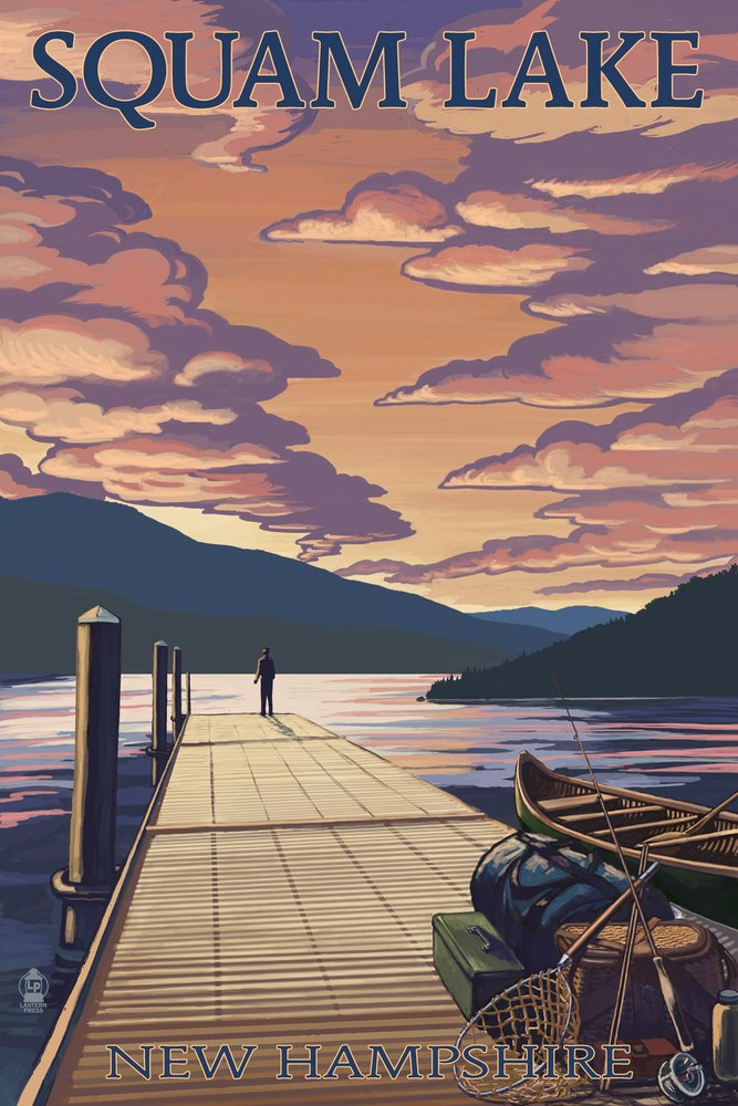 【送料無料キャンペーン?】 Squam湖、New Hampshire Sunset – Dock and Signed Print Sunset 12 x 18 Metal Sign LANT-43825-12x18M B07B2F8FKH 24 x 36 Signed Art Print 24 x 36 Signed Art Print, 全商品オープニング価格!:e2258788 --- mcrisartesanato.com.br