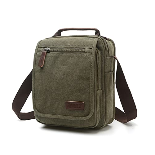 3543b7be2 Outreo Hombre Bolso Bandolera Vintage Bolsos Originales Messenger Bag Bolsos  de Tela Bolsas de Viaje para Colegio Bolsa Escolares Libro Tablet Handbag:  ...