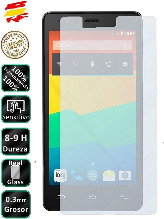 Movilrey Protector para BQ Aquaris E6 E6.0 6 Cristal Templado de ...
