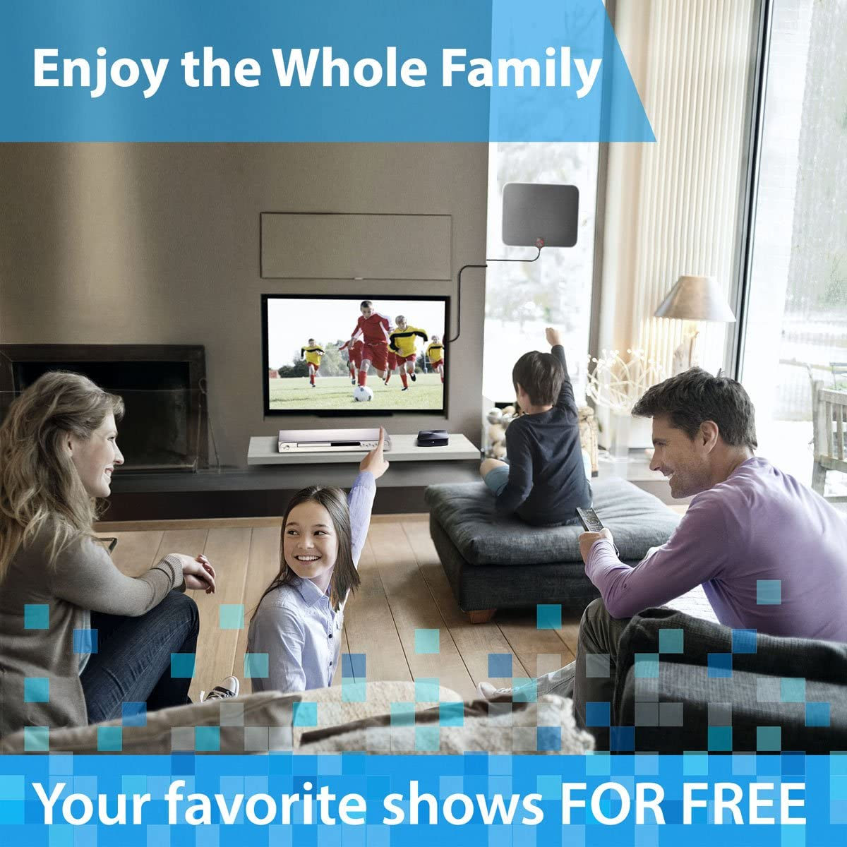 Best 80 Miles Long Range High-Definition with HDTV Amplifier Signal Booster Indoor Support All TVs UPGRADED 2018 VERSION HD Digital TV Antenna Kit Amplified 18ft Coax Cable 1080p 4K ready