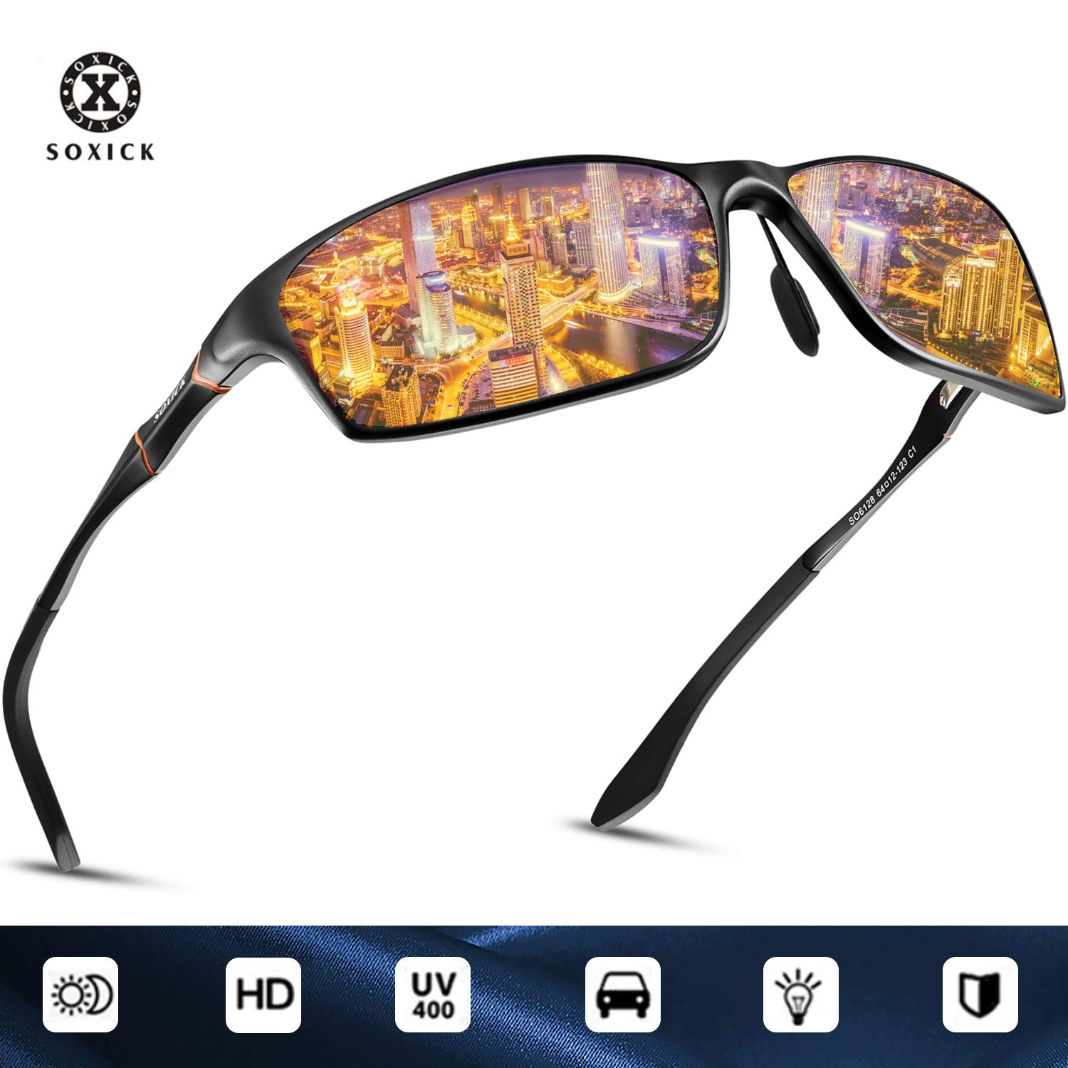 3f56313fca Amazon.com  SOXICK Night Driving Glasses