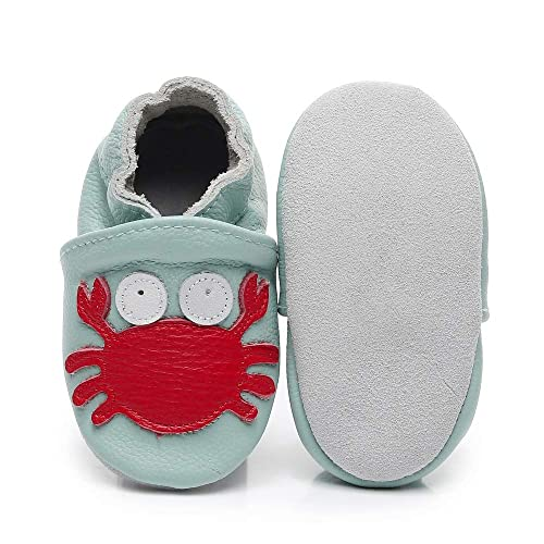 Bebila Cartoon Baby Moccasins Soft Leather Toddler Infant Crawling Slippers Shoes for Boys Girls